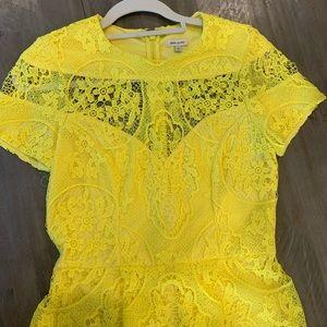 Beautiful yellow lace dress!
